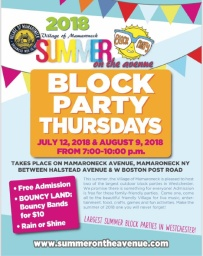 Summer block parties 2018